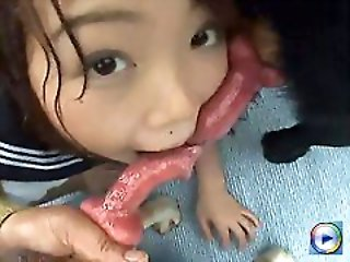 The young Japan teen likes anal dog sex